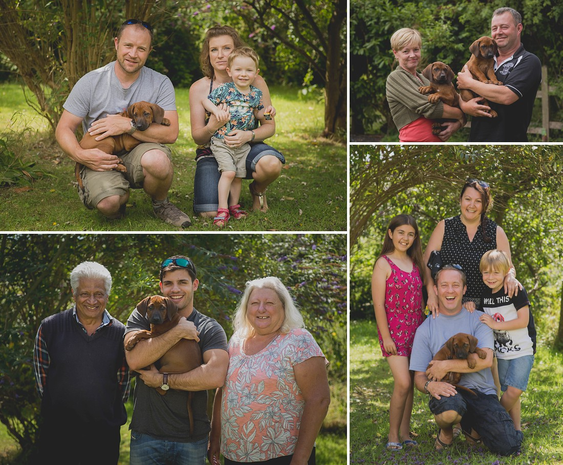 Ridegback Puppies with new owners